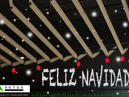 AKTUA, biosustainable building, wish you a Merry Christmas and a Happy New Year