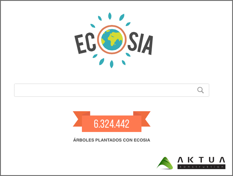 ECOSIA, buenas iniciativas ecológicas