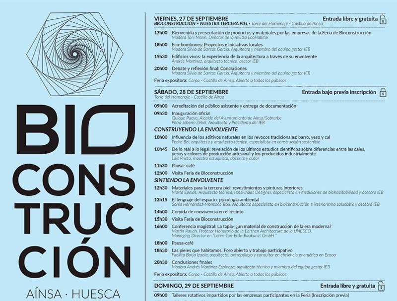 Jornadas bioconstrucción Aínsa